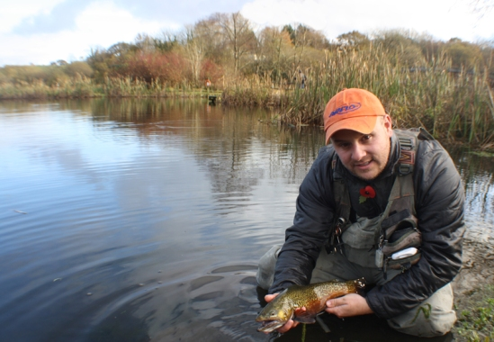 Ronsfishing tiger trout