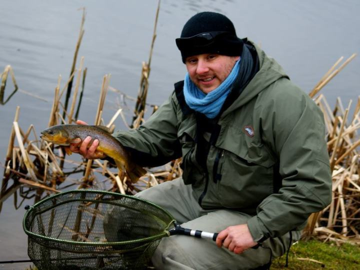 Terry Bromwell with a Brown Trout