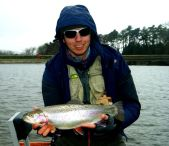 Kieron Jenkins with a Fish Blagdon