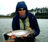 Kieron Jenkins with a Fish Blagdon